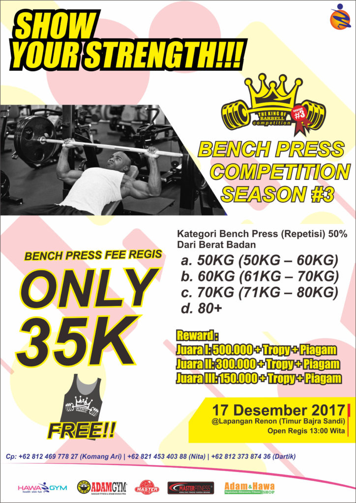 benchpress-competitons-season-3-adam-gym-dan-master-gym-indonesia